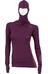 Aclima W's WarmWool Hood Sweater Grape Wine/Damson